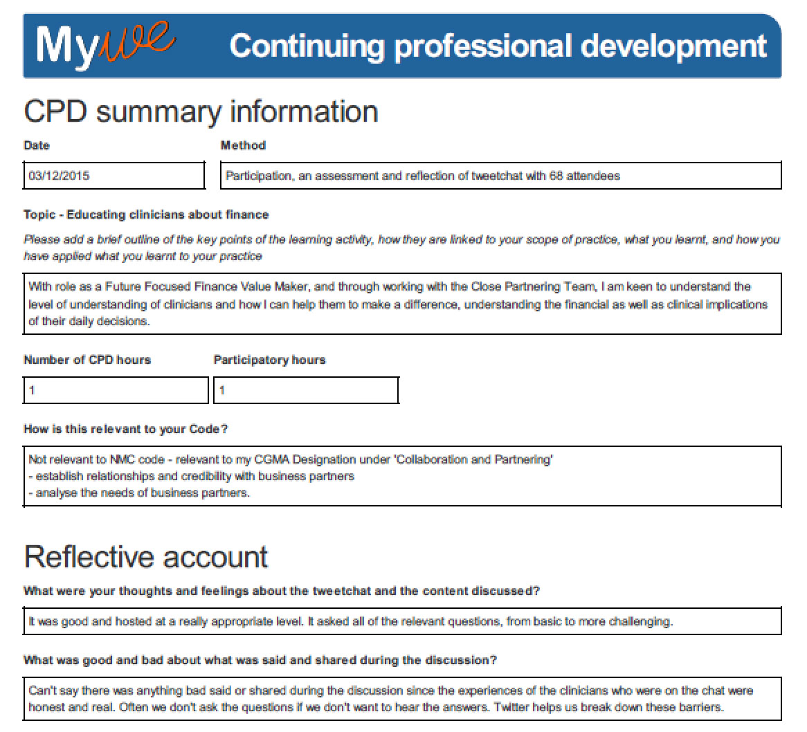 continuing professional development plan The following dissertation focuses on a personal development technique called continuing professional development  continuing development  plan.