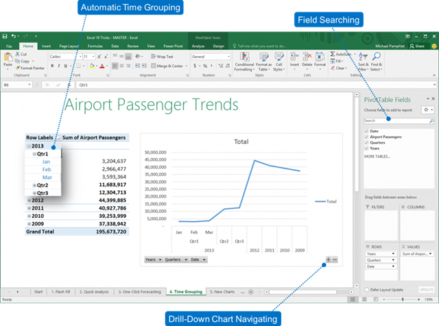 Excel 2016's new and improved features: part one