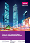 Report cover of corporate social responsibility and innovation in management accounting
