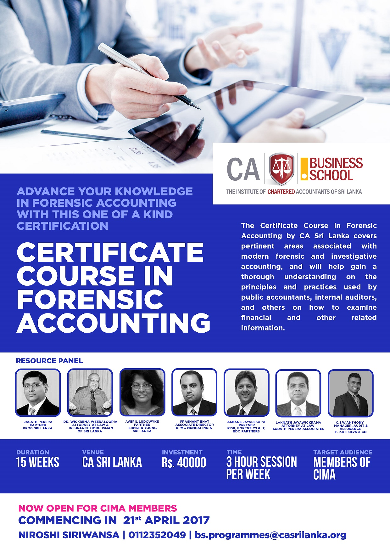 Cima Certificate Course In Forensic Accounting