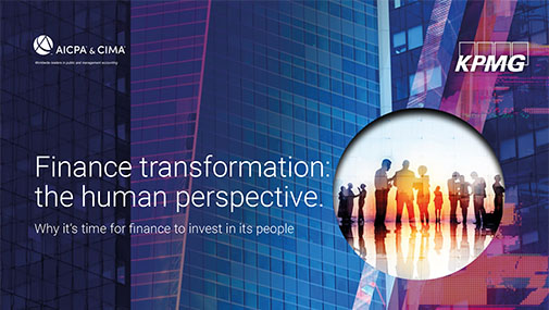 Finance transformation: the human perspective. Why it's time for finance to invest in its people